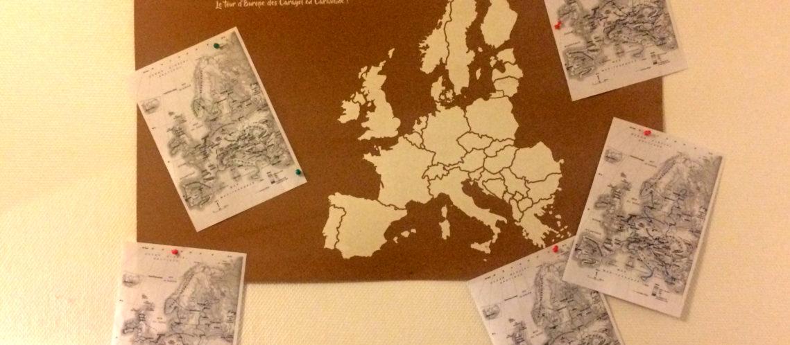Carte tour europe